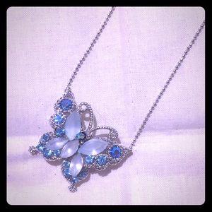 Jewelry - 🐛🌸Butterfly Necklace Blue CZ 🌺💐